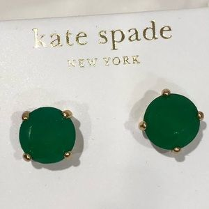 Kate Spade green post earrings
